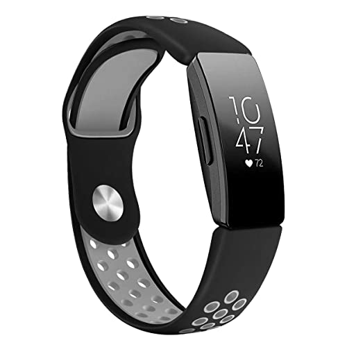 Fitbit Inspire HR Sport Band - Dykeiss Soft Silicone Replacement Accessory  Women Men Breathable Wristband Strap, Compatible for Fitbit Inspire HR